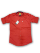 Mens plain shirt Scarlet