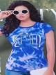 Women night suit Royal Blue