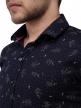 Men printed shirts Navy Blue