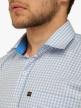Men Check Shirts Cornflower Blue