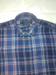 Men check shirt Cornflower Blue