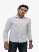 Men printed shirts White