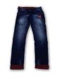 Mens simple terring jeans Dark Blue