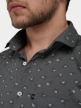 Men floral print shirts Shuttle Gray