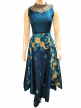 Silk Embroidered Semi-Stitched Gown Portage