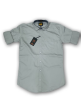 Mens plain shirt Silver