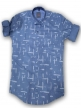 Mens shirt Cornflower Blue
