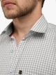 Men Check Shirts Silver