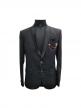Men's Slim Fit Black Tuxedo Blazer Black