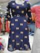 Girls Long top Navy Blue