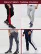 Foryou Cloth Men's Skinny Cotton premium quality joggers  Black