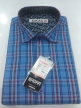 Men's check  shirts31289 Navy Blue