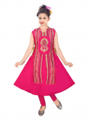 Girls Straight Cotton Short Kurti for Wholesale