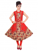 Round Neck Printed Kurti for Wholesale