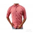 Mens Casual Twill Printed Shirt