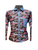 Army Print Denim Reversible Shirt