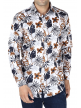 Floral Printed Shirt For Men's (White)