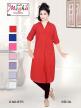 Designer Ladies Plain Long Kurti