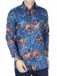 Jodhpuri Printed Shirt For Men's (Blue)