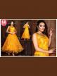 Orange gown for women