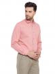 Light Pink Plain Regular Fit Cotton Formal Shirt