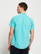 Solid Shirt For Men's Half Sleeve (Turquoise)