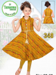 Girls Printed Kurti Set for Wholesale with Lace