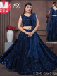 Party Wear Embroidered Lehenga With Net Dupatta