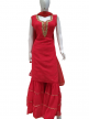 Embroidered Women V-Neck Sharara Suits