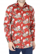 Floral Printed Shirt For Men's (Red)