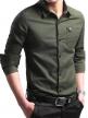 Solid Shirt For Men's (Olive Green)