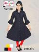 Designer Wholesale Ladies Plain Long Kurti