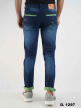 Branded Knitting Neon Strip polo fit Jeans