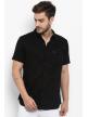 Solid Shirt For Men's Half Sleeve (Black)