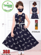 Buy Girls Leaves Printed Kurti Set Lace