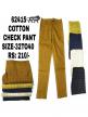 Cotton check pant for boys