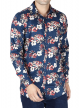 Floral Printed Shirt For Men's (Blue)