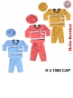 Kids Infant Wear Baba Suits with Cap